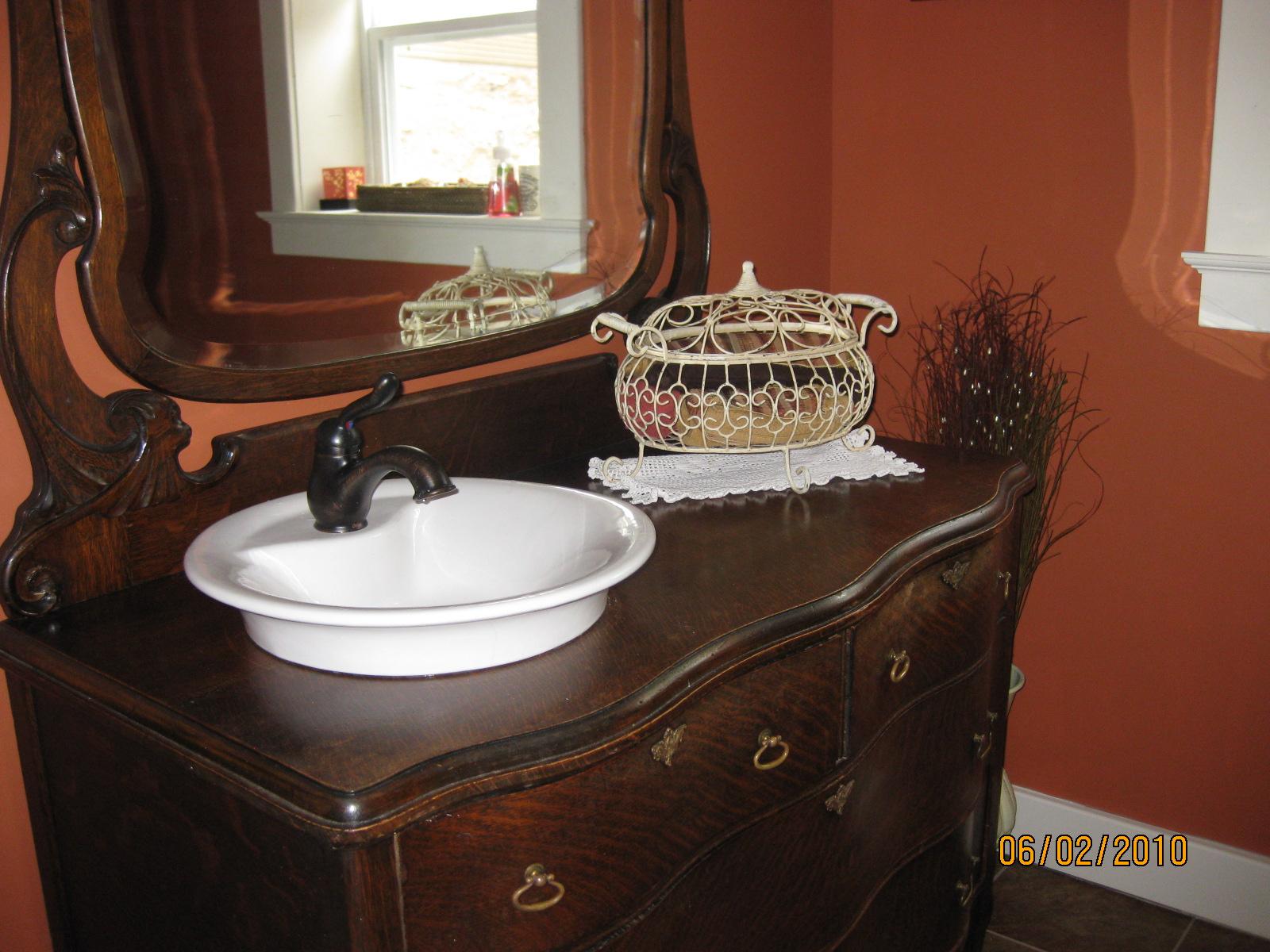 Repurpose dresser bathroom vanity viewing gallery